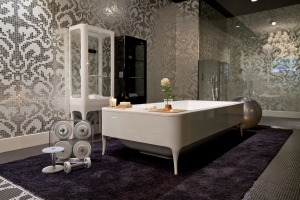 Plano general del showroom de Bisazza