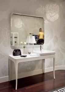 Detalle de mueble de bagno de Bisazza