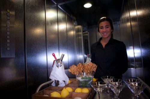 Gin Fizz en el ascensor