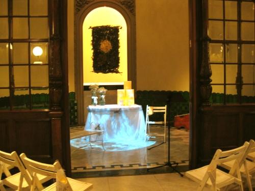Altar de la boda