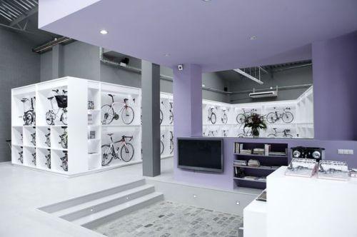 Perspectiva de la tienda de ciclismo para eventos de Ànima catering