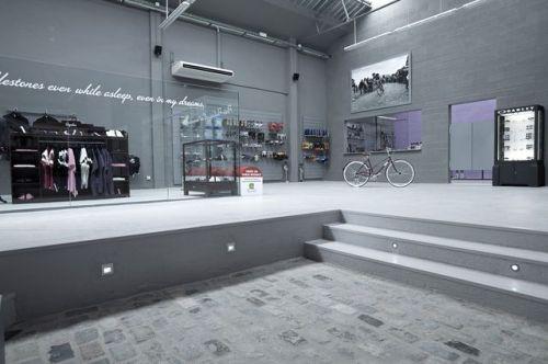Plano general de la tienda de ciclismo