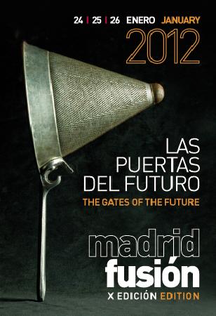 """Cartel de Madrid Fusión 2012 """"Las puertas del futuo"""""""