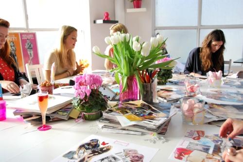 Las bloggers en proceso creativo