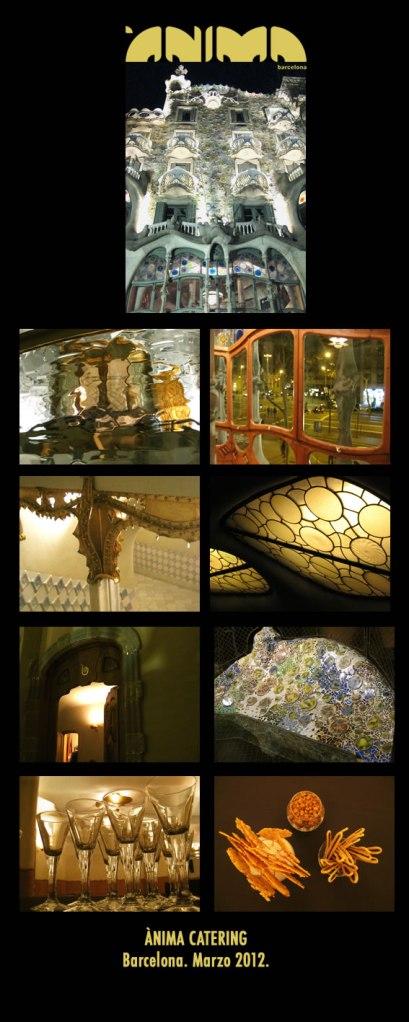 Fotos de la cena de gala en Casa Batlló por Ànima catering