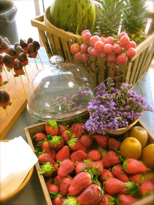 Fruta fresca para los zumos naturales