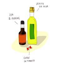 Ilustración de Lea & Perrins, Aceite de Oliva, Gotas de Tabasco