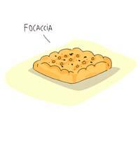 Ilustración Focaccia