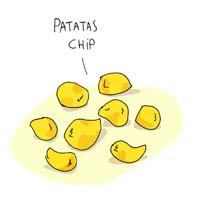 Ilustaración de las patatas Chip