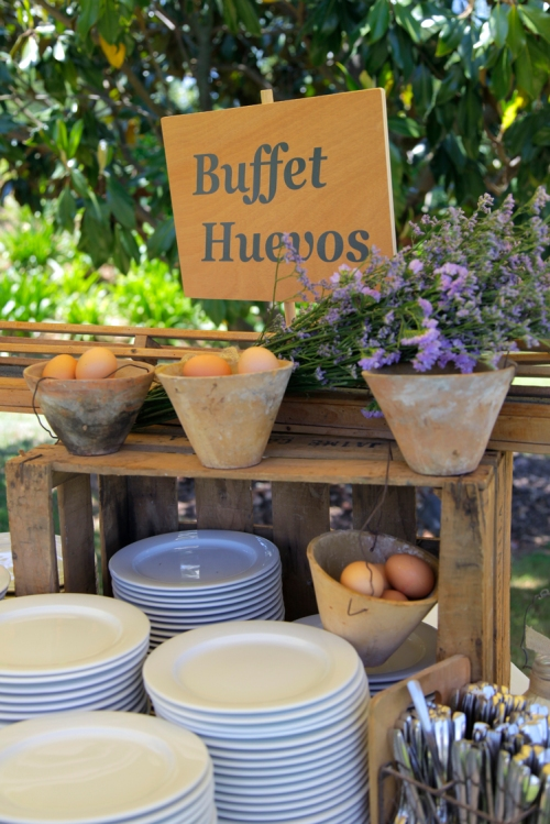 Buffet de Huevos en una bode de Ànima catering