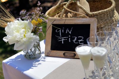 Gin Fizz 0º - 60 Welcome a una boda de Ànima catering.