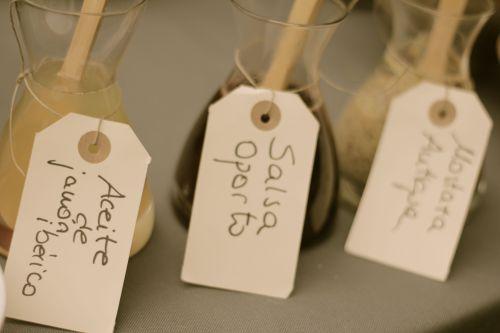 Salsa oporto, Mostaza antigua, Aceite de jamón ibérico