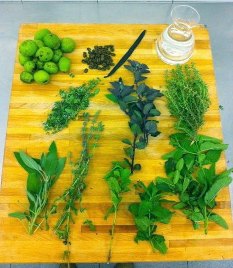 Ingredientes para elaboración de ratafía by Ànima catering