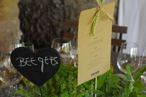 Nombre musical en las mesas by Ànima catering
