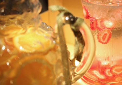 Detalle de las aguas aromatizadas de Ànima catering para Desigual