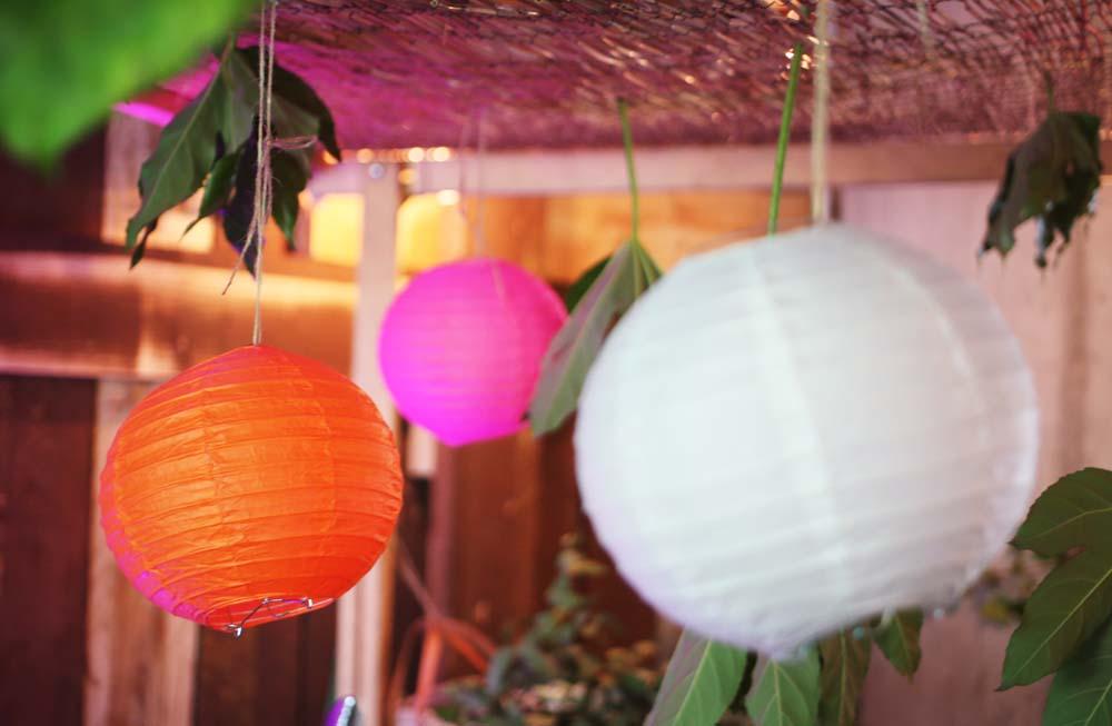 Luces de colores para evento Desigual