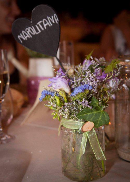 Un centro de mesa en una boda by Ànima catering