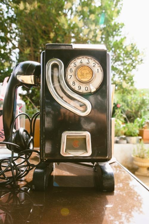 Teléfono vintage en una boda New York Ànima catering
