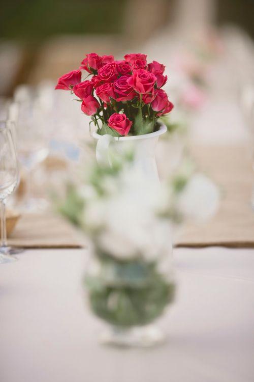 Centro de mesa en una boda by Ànima catering