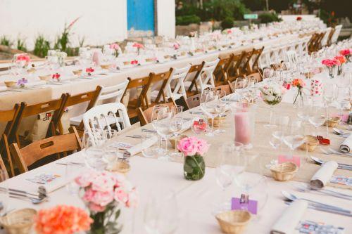 Mesas en una boda by Ànima catering. New York.