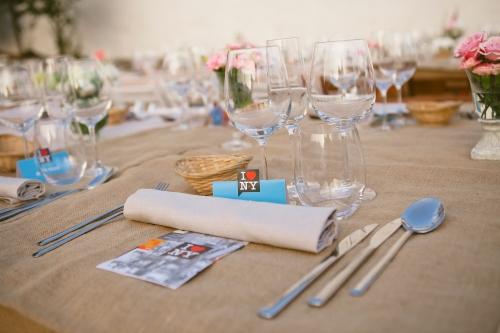 Mesa en una boda New York