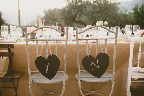 Sitting novios en una boda Ànima catering