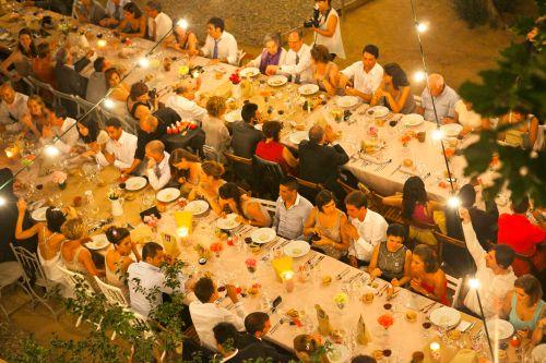 Vista de pájaro en una boda New York Ànima catering