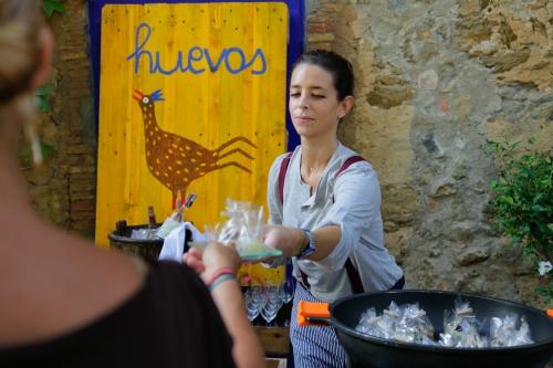 Buffet de huevo by Ànima catering. Boda.