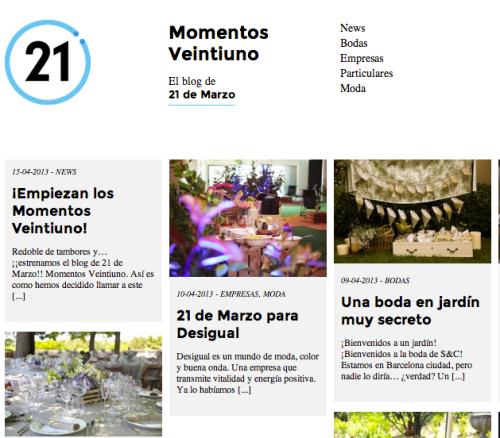 Nuevo Blog Momentos Veintiuno
